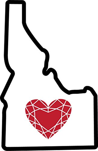 Heart in Idaho Sticker Vinyl Decal Label Stickers, for sale  Delivered anywhere in USA