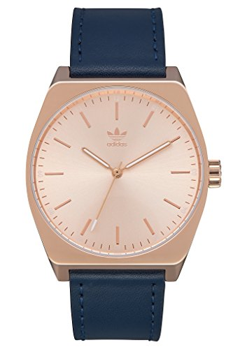 adidas Watches Process_L1. Genuine Leather Strap, 20mm Width (All Rose Gold/Navy. 38 mm).