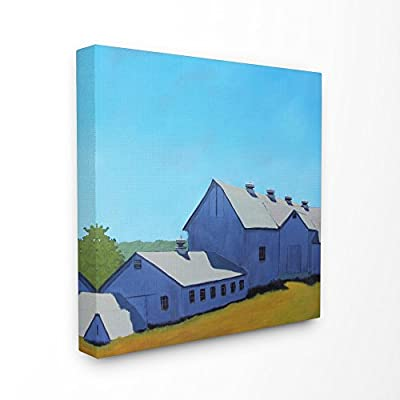 Stupell Industries Colorful Luminous Painted Farm House Canvas Wall Art, 24 x 24, Multi