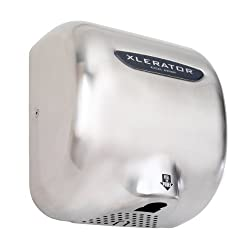 """XLERATOR XL-SB Automatic Surface-Mounted Hand Dryer with Brushed Stainless Steel Cover, 12-11/16"""" Height x 11-3/4"""" Width x 6-11/16"""" Depth"""
