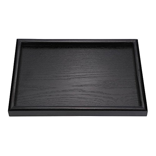 Drip Table Tray (Wood Tea Tray, Asixx Rectangle Serving Tray Platter for Coffee, Tea, Snack, Food and Meals(30202cm))
