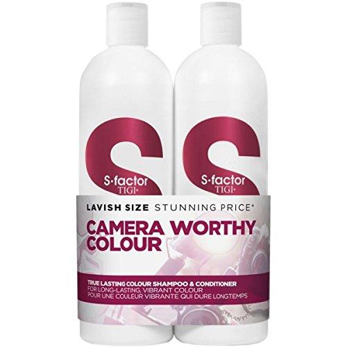 Tigi S-FACTOR Tween Duo Shampoo and Conditioner True Lasting Colour, 1er Pack (1 x 1500 ml)