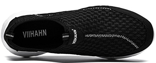 Vibdiv--Hommes Légers Respirante Slip-on Chaussures (EU 41 UK 7, Noir)