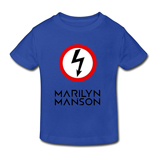 Price comparison product image Toddler's Cool Marilyn Manson T-shirts Size 4 Toddler RoyalBlue By Mjensen