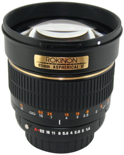 Rokinon 85M-P 85mm f/1.4 Aspherical Lens for Pentax (Black)