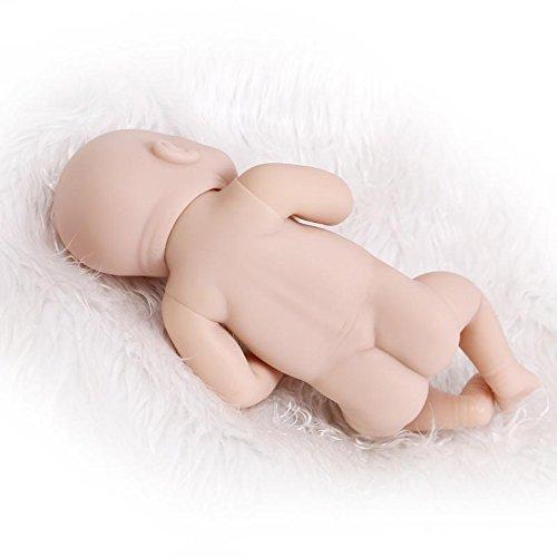 "10/"" Mini Full Silicone Vinyl Unpainted Doll Kit for Making Reborn Baby"