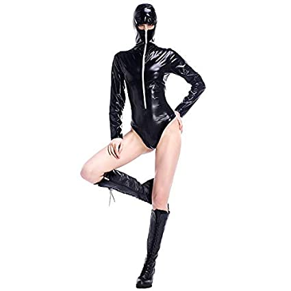XSQR Sexy Mujer Enmascarada Lencería De Cuero Clubwear ...