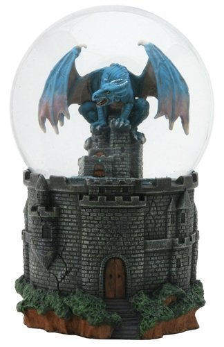 SUMMIT BY WHITE MOUNTAIN Dragon Castle Water Glitter Snow Globe Display