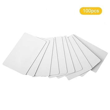 Tarjetas de PVC blancas en blanco Plástico, sin contacto ...