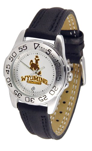 "Wyoming Cowboys NCAA ""Sport"" Ladies Watch (Leather Band)"