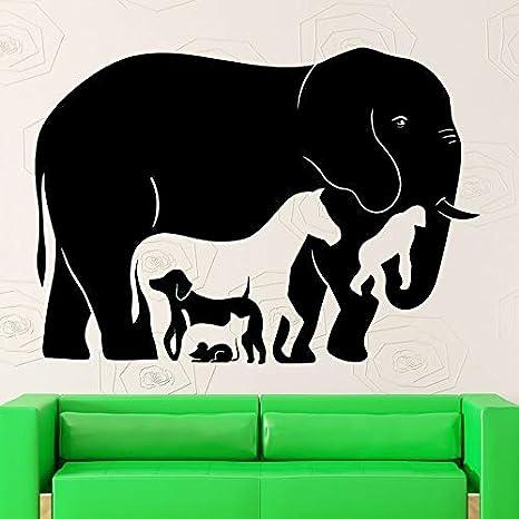 Tianpengyuanshuai Animal Silueta Etiqueta de la Pared Elefante ...