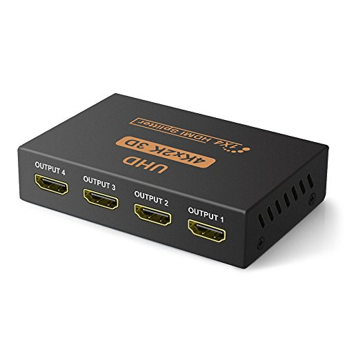 2 Output Splitter Hdmi (Aobelieve 1x4 Powered HDMI Splitter V1.4 (1 Input 4 Output) Support Full Ultra HD 4K/2K 1080P and 3D Resolution)