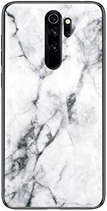 SHIEID Funda Xiaomi Redmi Note 8 Pro,Mármol Vidrio Templado de ...