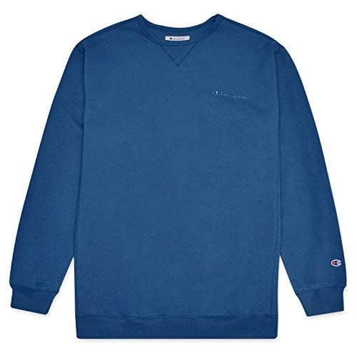 Champion Mens Big and Tall Vintage Wash Pullover Crewneck Sweatshirt Estate Blue 2X