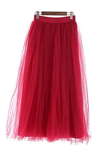 4 Rose Longueur 100cm au Tulle Jupons Femmes Tutu Poudr Couches sol Facent qFOpEp