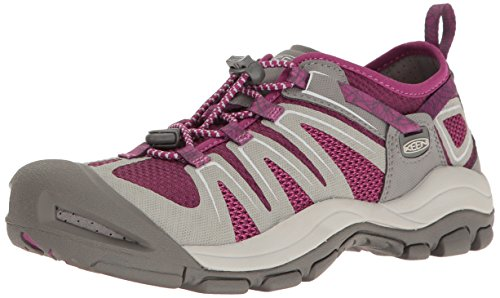 KEEN Women's Mckenzie II Hiking Shoe, Neutral Gray/Dark Purple, 7 M US by KEEN