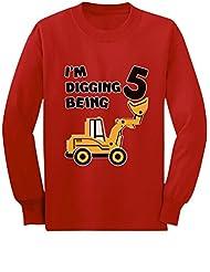 5th Birthday - Bulldozer Construction Party Toddler Toddler/Kids Long sleeve T-Shirt