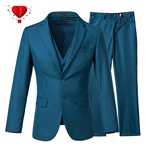 Yanlu Men's 3 Piece Slim Fit Suits 2 Buttons Wedding Groom Tuxedos ()