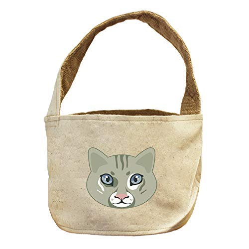 Style in Print Cat Head Animals Canvas and Burlap Storage Basket by Style in Print