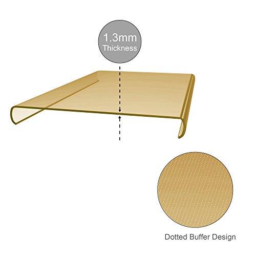 Cadorabo - LG NEXUS 5X Cubierta protectora de silicona TPU en diseño AIR - Case Cover Funda Carcasa Protección en TRANSPARENTE-AZÚL TRANSPARENTE-ORO