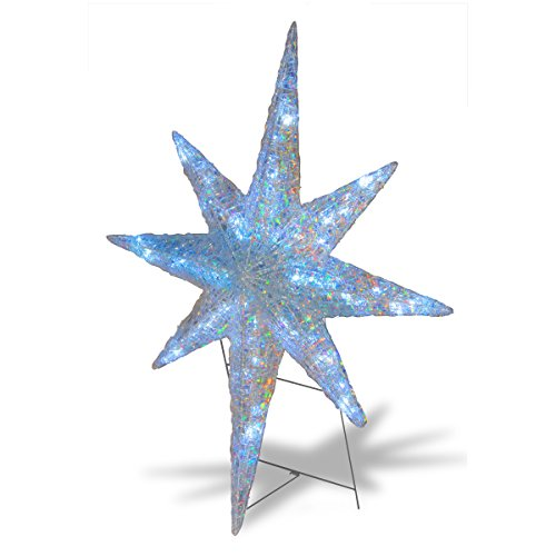 National Tree DF-064002 Ice Crystal Star with LED Lights, 42