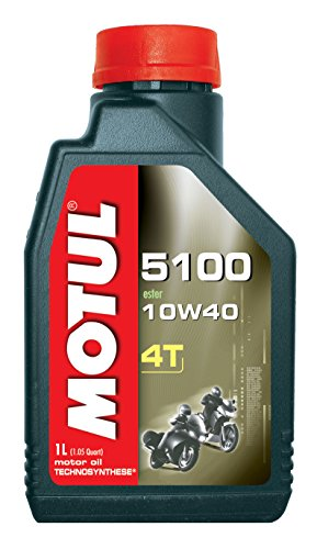 Motul 4T 5100 10W40 Ester Synthetic Blend - Quart (Pack of 4) ()