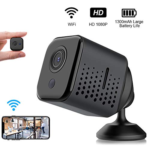 Gnolkee Mini WiFi Hidden Camera, HD 1080P WiFi Spy Camera, Hidden Security Camera with Night Vision and Motion Detection, Portable Wireless Nanny Cams for Home/Office/Baby/Pets/Outdoor