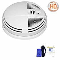 DAY & NIGHT VISION PORTABLE COLOR SMOKE DETECTOR HIDDEN SPY CAMERA DVR BUILT IN, BOTTOM VIEW FOR WALL OR CEILING MOUNT