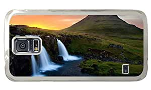 Hipster Samsung Galaxy S5 Case online Waterfall in Mountains PC Transparent for Samsung S5 by lolosakes
