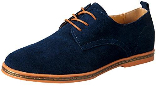 iLoveSIA Schnürhalbschuhe Herren Wildleder Klassiker Oxfords Anzugschuhe Blau