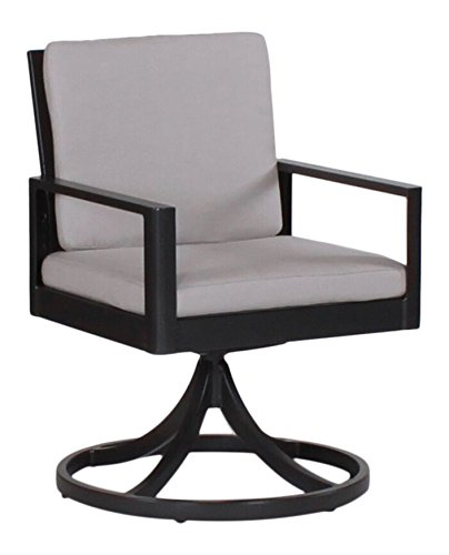 Amazon.com : Serene Dining Swivel Rocker, SHORE EMERALD-Textured White Frame : Patio, Lawn & Garden