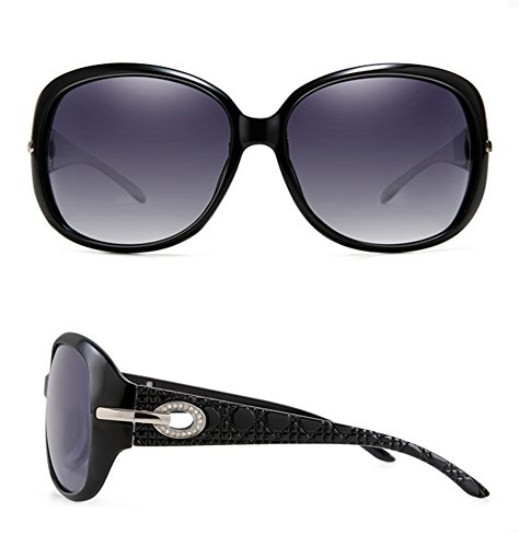 20a196bab2ab Joopin Women Polarized Sun Glasses Butterfly Big Frame Brand Sunglasses (Black  Simple package