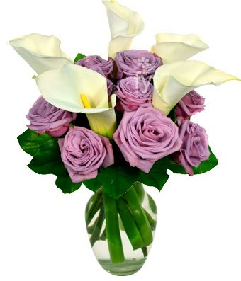 From You Flowers - Purple Rose and Calla