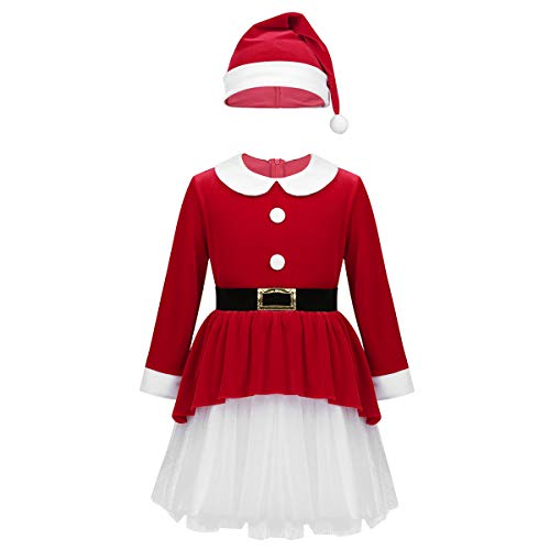 ACSUSS Kids Girls Deluxe Christmas Santa Claus