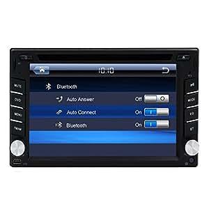 Bluetooth con micr¨®fono USB AM / FM Radio Doble Din pantalla t¨¢ctil del coche est¨¦reo cl¨¢sico Sistema Operativo Windows 6.2 pulgadas en el tablero de coches reproductor de DVD de v¨ªdeo