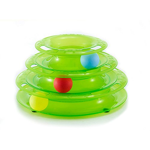 Green Strawhat Interactive Cat Mice Toys Pet Ball Toy, Green