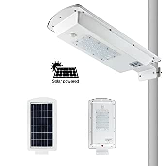 10W LED Solar Street Light Outdoor Wall Lamp Waterproof Security Dimmable Induction Night Light for Wallway Yard Garden Driveway Stairs Barn Street Outdoor Indoor Area