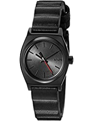 Nixon Womens Quartz Stainless Steel and Leather Watch, Color:Black (Model: A509SW2244-00)