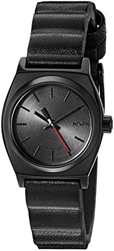 Nixon Women's Quartz Stainless Steel and Leather Watch, Color:Black (Model: A509SW2244-00)