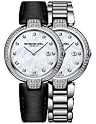 Raymond Weil Womens Swiss Quartz Stainless Steel Casual Watch, Color:Silver-Toned (Model: 1600-SCS-97081)