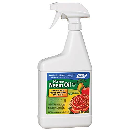 Monterey Neem Oil Insecticide, Miticide and Fungicide Ready to Use Spray - 32 Ounce