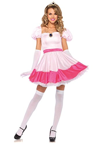 [Leg Avenue Women's Pink Princess Costume, Pink, Small/Petite] (Princess Peach Costumes Women)