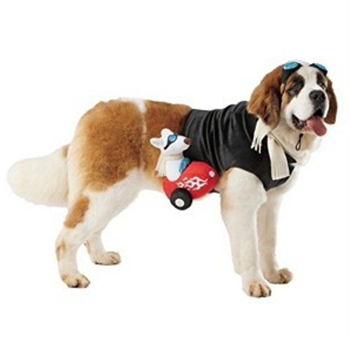 Dog Sidecar Rider Costume Race Car Driver Pet Costume XL - Sidecar Dog Costume