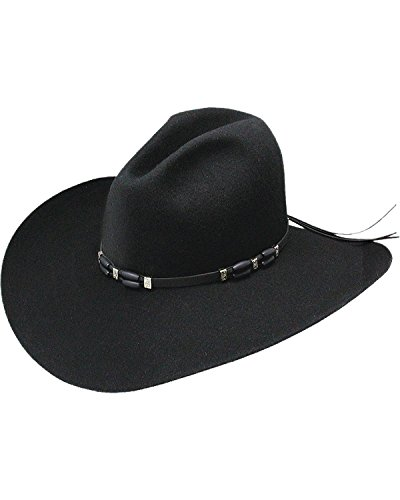 - Resistol Men's 2X Cisco Felt Cowboy Hat Black 7 1/4