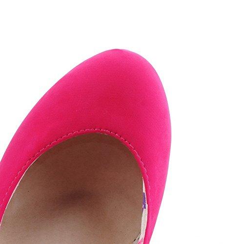BalaMasa donna fibbia tacchi alti solido pompe scarpe, Rosa (Pink), 35