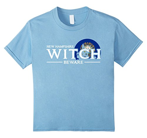 Kids New Hampshire Witch Beware T-shirt Funny Halloween Costume 8 Baby (Hampshire Halloween Costumes)