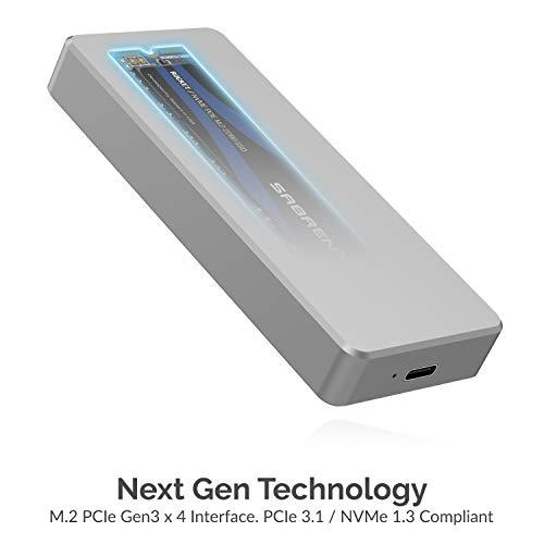 Sabrent Rocket Pro 1TB NVMe USB 3.1 External Aluminum SSD (SB-1TB-NVME) by Sabrent (Image #1)
