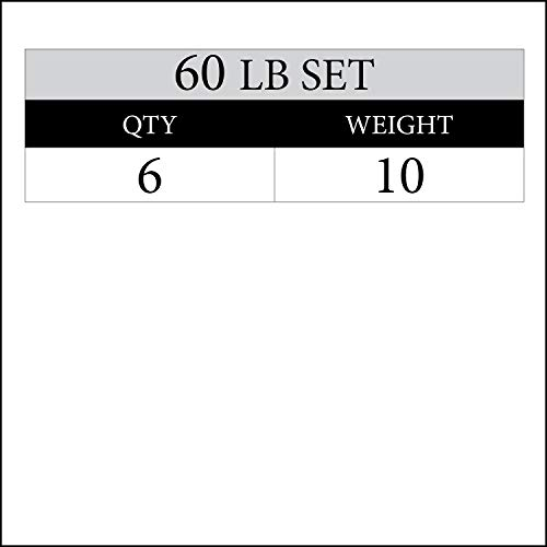 XMark Texas Star 60 lb Set Olympic Plates, Patented Design, One-Year Warranty, Olympic Weight Plates by XMark Fitness (Image #1)