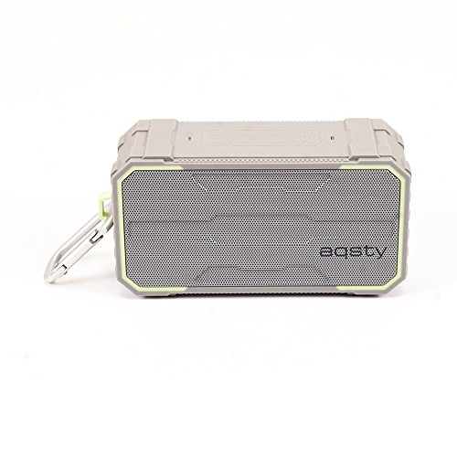 Portable Bluetooth Speaker Aqsty 2030 Portable Bluetooth Wireless Speaker for Home and Portable ,Output Power 5x2 (RMS), Built-in-Mic, AUX Line,TF Card MP3, and Bass (silver) by Aqsty