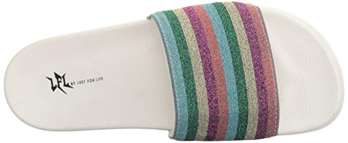 White Cabana Life Women's L Multi by Lust LFL Sandal for Flat fzF1xawnqw